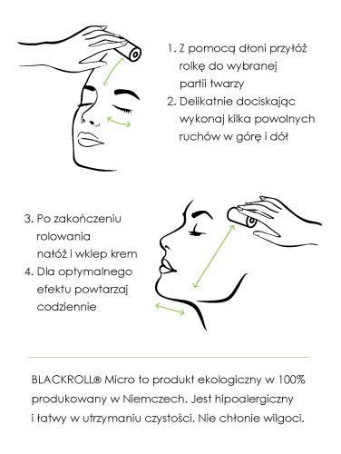 BLACKROLL MICRO masaż twarzy rolka